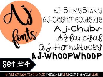 AJ Fonts- Set #4