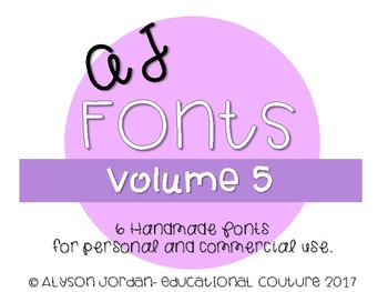 AJ Fonts- Set #5