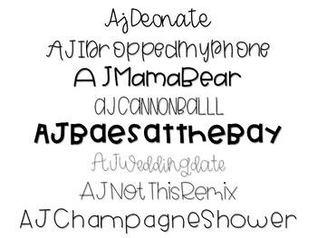 AJ Fonts- Set 5