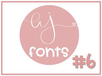AJ Fonts- Volume #6