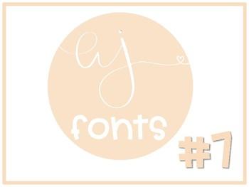 Alyson Jordan Fonts Volume #7