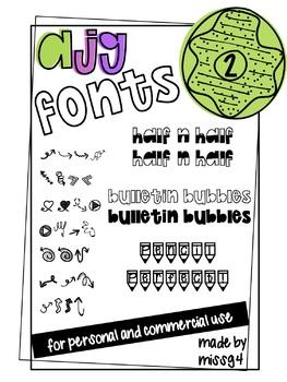 AJG Fonts Growing Bundle