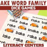 AKE Word Family Dice Games for Centers or Small Groups