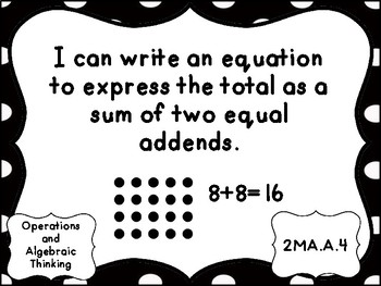AKS Grade 2 Mathematics I Can Statements for Gwinnett County