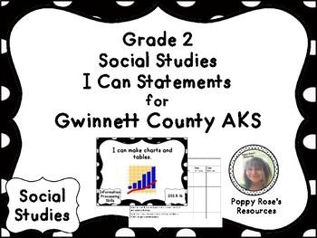 AKS Grade 2 Social Studies I Can Statements for Gwinnett County