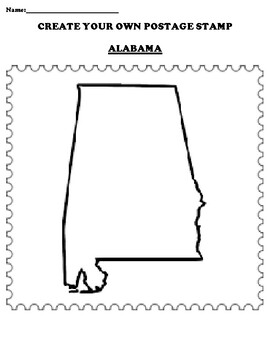 ALABAMA Create your Own Postage Stamp