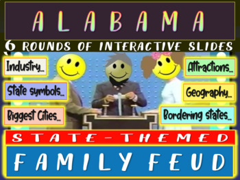 ALABAMA FAMILY FEUD! Engaging game about cities, geography, industry & more