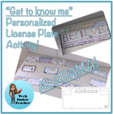 Alabama Get to Know Me License Plate Activity