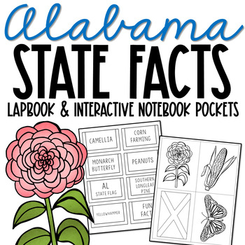 ALABAMA State History Lapbook Project, State Symbols, Stress-Free Design