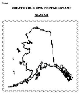 ALASKA Create your Own Postage Stamp