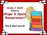 ALBERTA MATH ~ MEASUREMENT ~ Word Wall Words