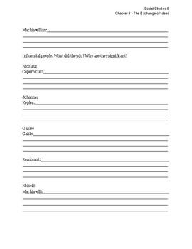ALBERTA Social Studies 8 - Chapter 4 Vocab