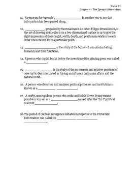 ALBERTA Social Studies 8 Chapter 4 fill in the blank vocabulary