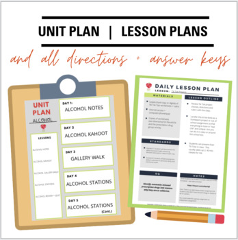 Health Class Curriculum- Alcohol Unit BUNDLE: Drinking Lessons & Activities
