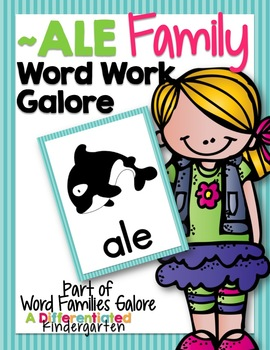 ALE Word Family Word Work Galore-Differentiated and Aligned
