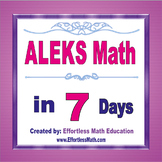 ALEKS Math Placement Assessment in 7 Days + 2 full-length ALEKS Math tests