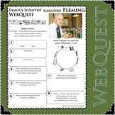 ALEXANDER FLEMING Science WebQuest Scientist Research Project Biography Notes