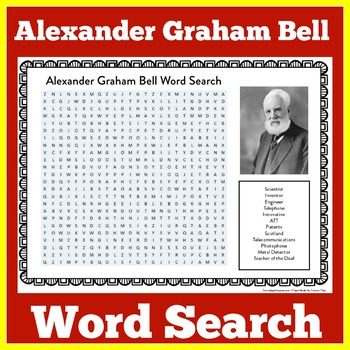 ALEXANDER GRAHAM BELL ACTIVITY ( WORD SEARCH)