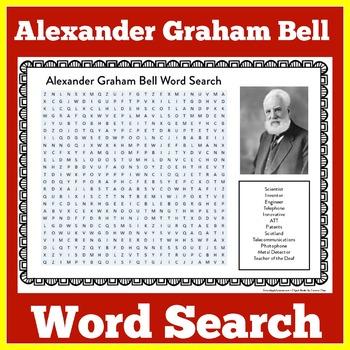 Alexander Graham Bell Worksheet | Alexander Graham Bell Word Search