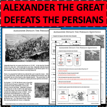 ALEXANDER THE GREAT DEFEATS THE PERSIANS & DARIUS III Differentiated Activity