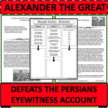 ALEXANDER THE GREAT DEFEATS THE PERSIANS Eyewitness Account PRIMARY SOURCE