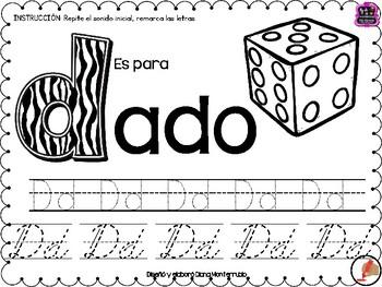 ALFABETO HOJAS DE TRABAJO