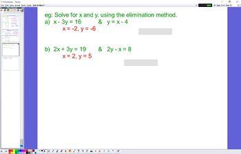 ALG 10 Simultaneous Eqs Elimination