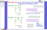 ALG 10 Simultaneous Eqs Elimination