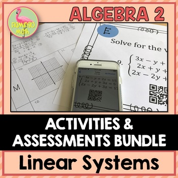 Algebra 2: Linear Systems & Inequalities Activities and Assessments Bundle