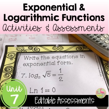 Algebra 2: Exponential and Logarithmic Functions Review-Qu