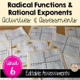 Radical Functions Activities & Assessments Bundle (Algebra 2 - Unit 6)