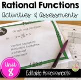 Rational Functions Activities and Assessments (Algebra 2 -