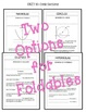 Algebra 2: Conic Sections FOLDABLES Bundle