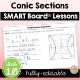 Conic Sections SMART Board® Lessons (Algebra 2 - Unit 10)