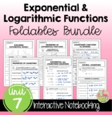 Exponential & Logarithmic Functions FOLDABLES™ (Algebra 2 - Unit 7)