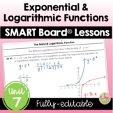 Algebra 2 Exponential and Logarithmic Functions SMART Board® Lessons Bundle