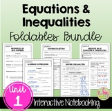 Expressions Equations & Inequalities FOLDABLES™ (Algebra 2