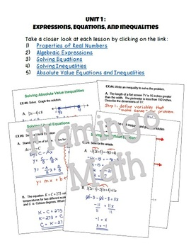 Algebra 2: Expressions Equations and Inequalities SMART Board® Lessons Bundle