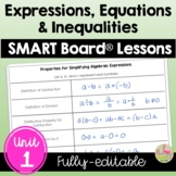 Expressions Equations & Inequalities SMART Board®  (Algebr