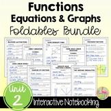 Functions Equations Graphs FOLDABLES™ (Algebra 2 - Unit 2)