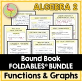 Functions Equations Graphs FOLDABLES™ (Algebra 2 - Unit 2)