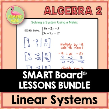 Algebra 2: Linear Systems & Inequalities SMARTBOARD Lessons Bundle