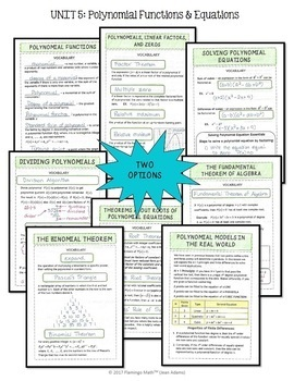 Algebra 2: Polynomial Functions FOLDABLES® Bundle