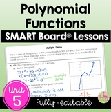 Polynomials SMART Board® Bundle (Algebra 2 - Unit 5)