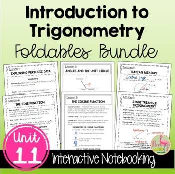 Algebra 2: Introduction to Trigonometry FOLDABLES Bundle