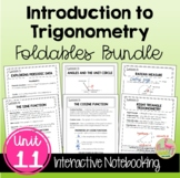 Intro to Trigonometry FOLDABLES™ (Algebra 2 - Unit 11)