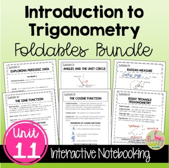 Introduction to Trigonometry FOLDABLES Bundle