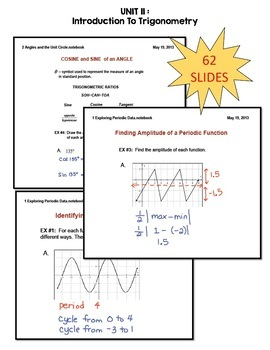 Algebra 2 Introduction to Trigonometry SMART Board® Lessons Bundle
