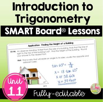 Introduction to Trigonometry SMARTBOARD Lessons Bundle