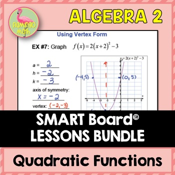 Algebra 2: Quadratic Functions and Equations SMART Board® Lessons Bundle